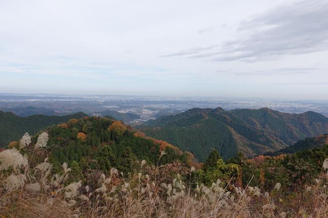 景信山の山頂から東側の景色