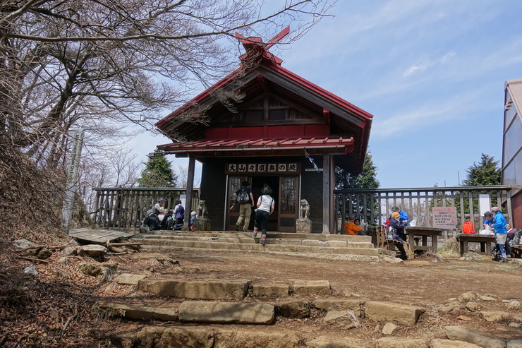 丹沢・大山の山頂(阿夫利神社奥の院)