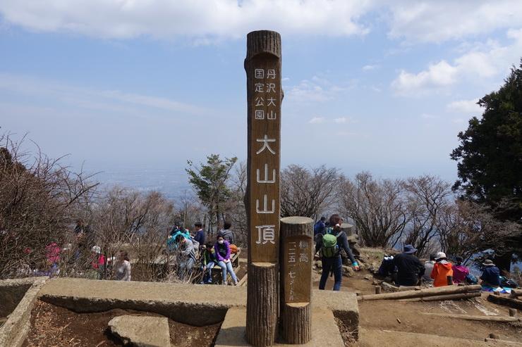 丹沢・大山の山頂(山頂標識)