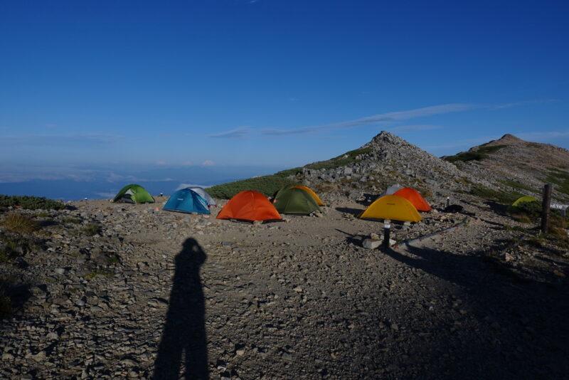 大天荘・西側のテントサイト