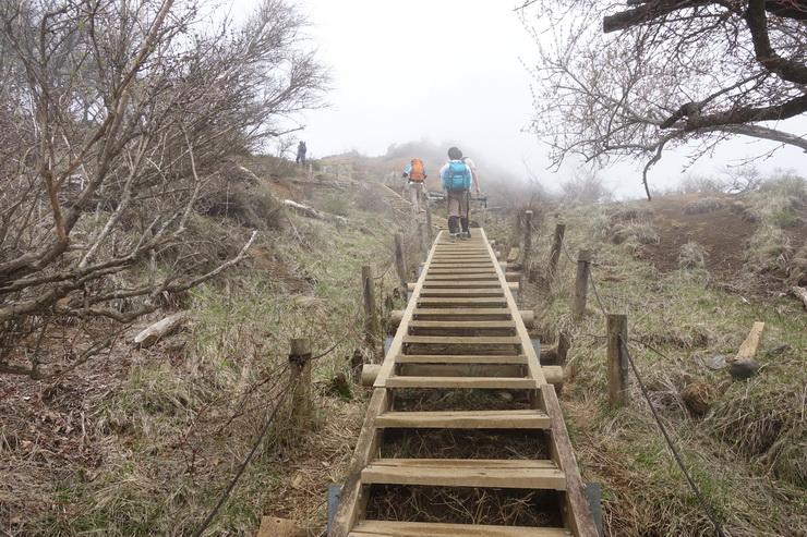 丹沢・花立山荘~塔ノ岳(山頂手前の階段)