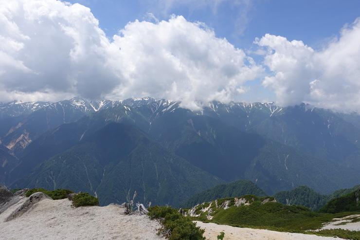 燕岳からの展望