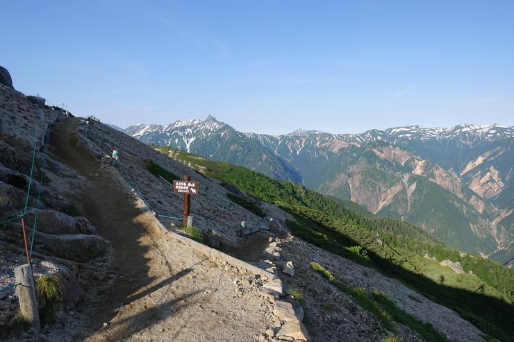 燕山荘から大天井岳へ