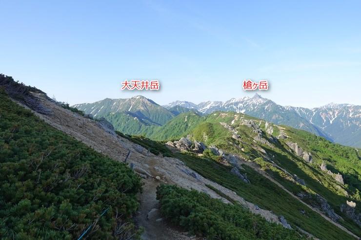 大天井岳と槍ヶ岳