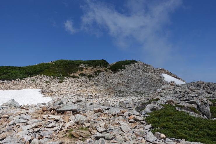 大天井岳の途中