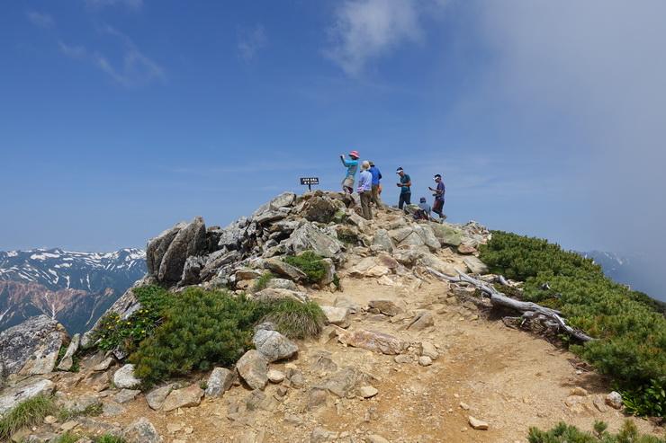 大天井岳の山頂