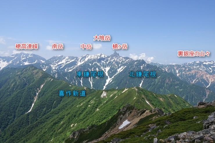 大天井岳からの展望