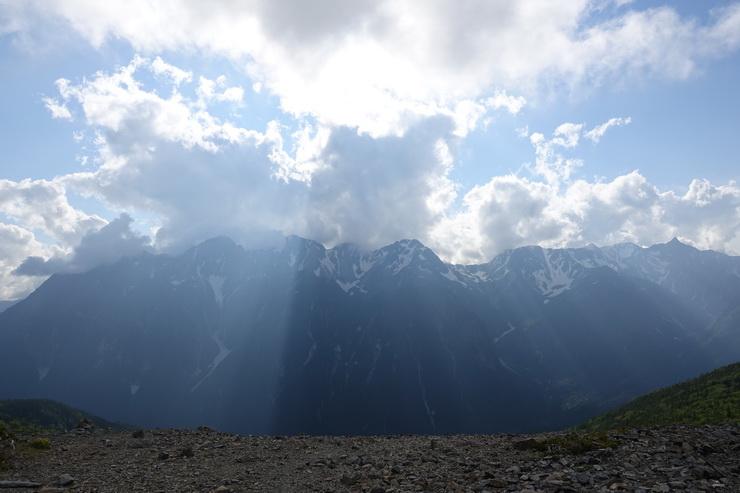 蝶ケ岳の山頂からの展望