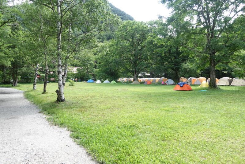 徳澤園のテント場