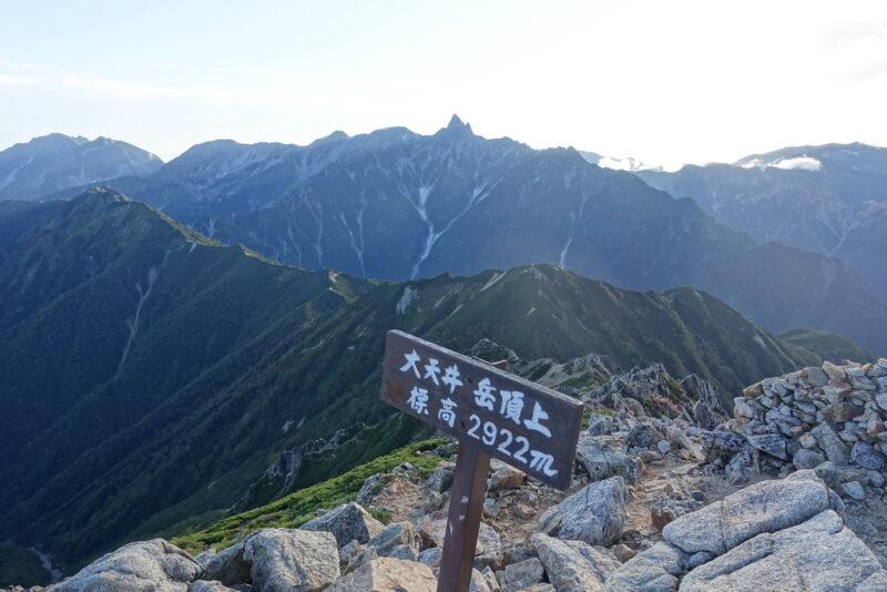 大天井岳から槍ヶ岳方面