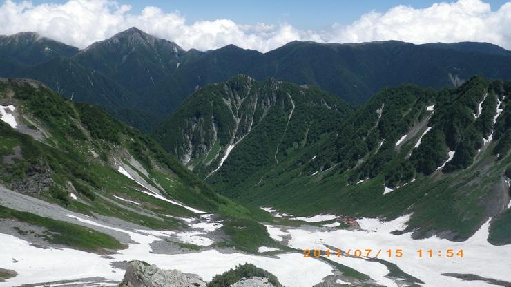 夏山テント泊登山計画3~常念山...