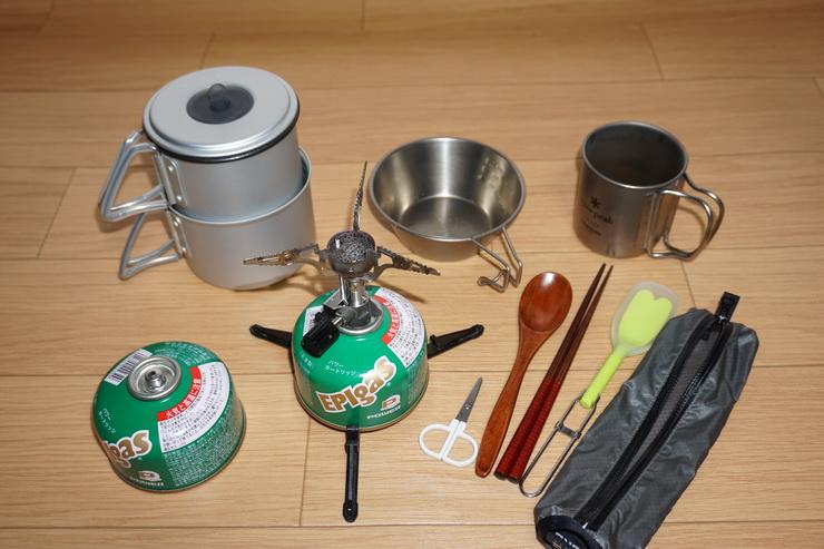 テント泊~調理器具と食器