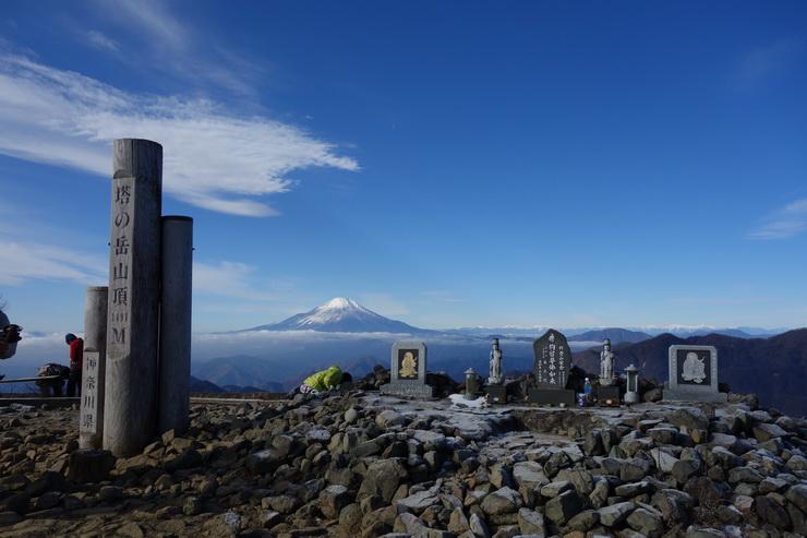 塔ノ岳山頂から富士山