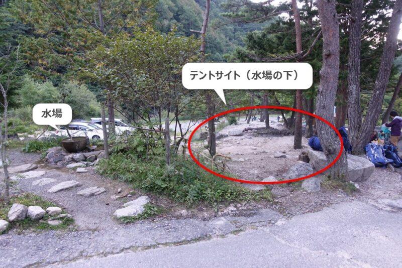 中房温泉・テントサイト