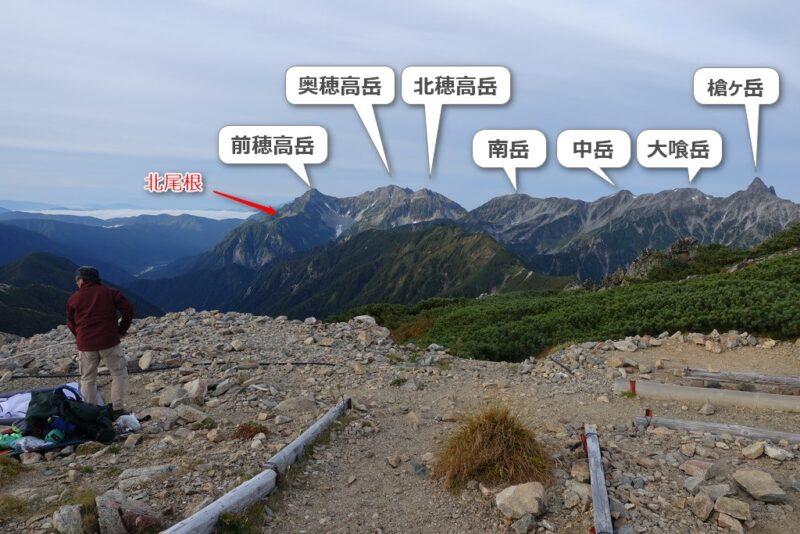 大天荘~テントサイト東側の景色
