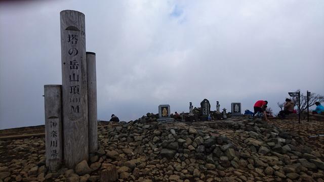 丹沢・塔ノ岳の山頂