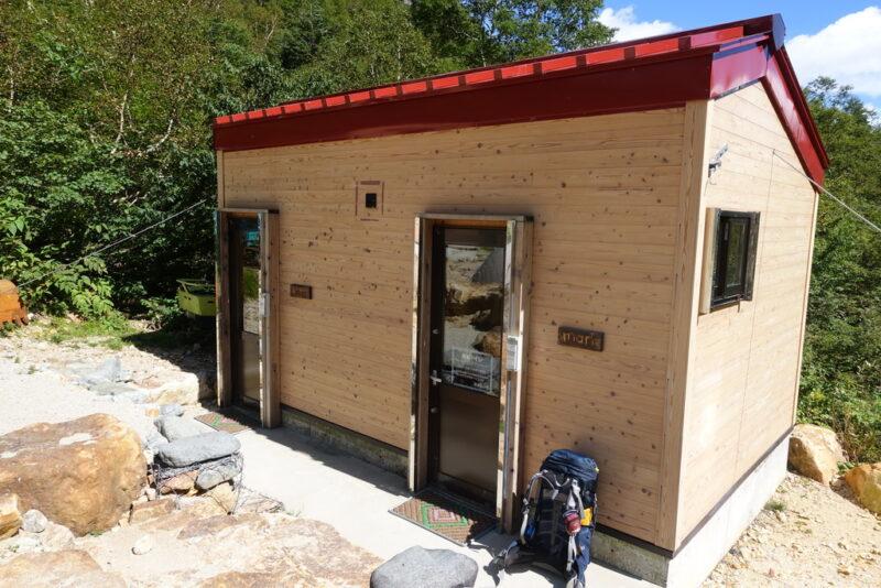 槍沢キャンプ場(ババ平)のトイレ