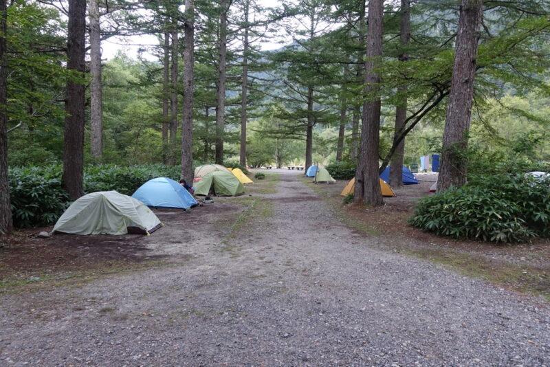 小梨平キャンプ場のテントサイト