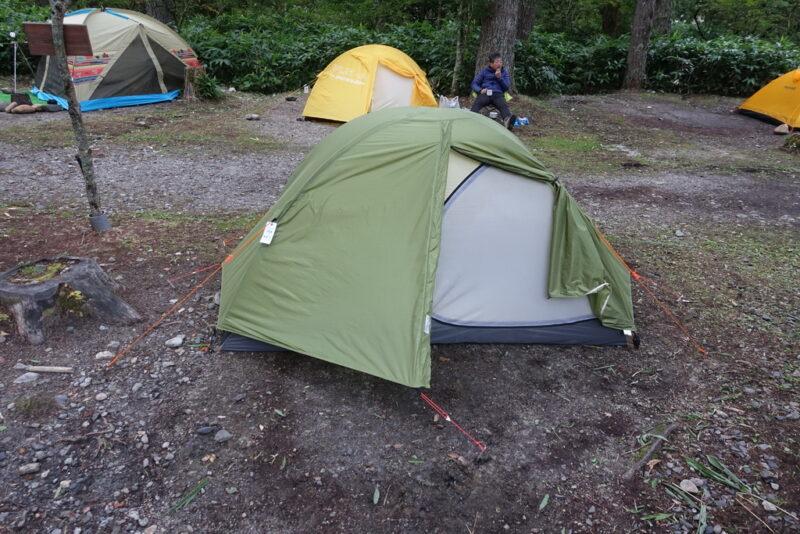 小梨平キャンプ場とマイテント