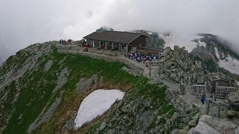 雄山山頂から社務所