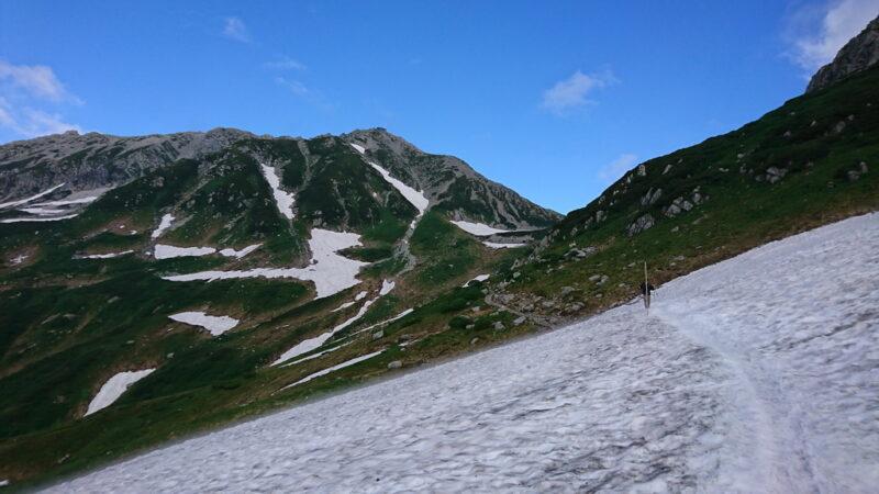 立山と雪渓