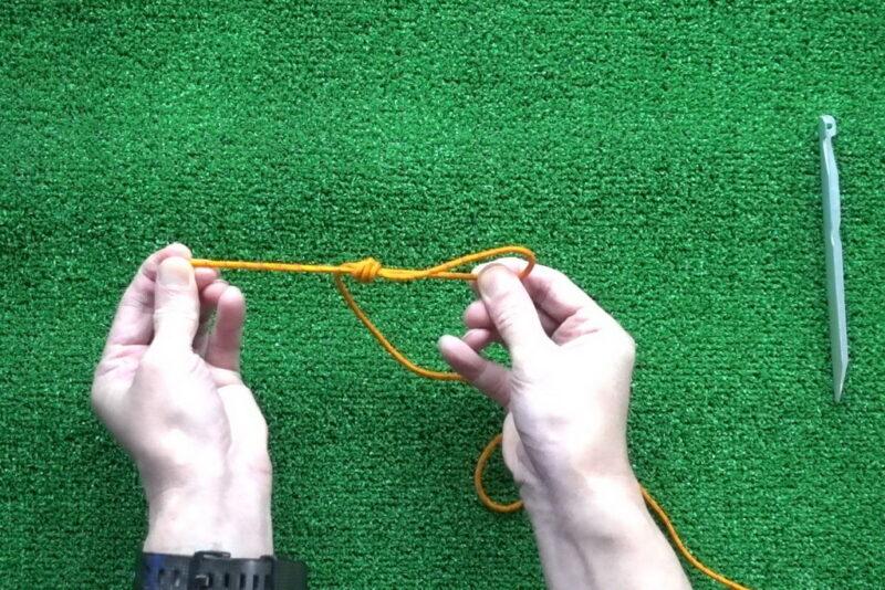 エバンスノットの結び方(後輪方式⑤)