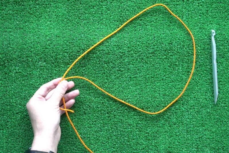 エバンスノットの結び方(後輪方式⑥)