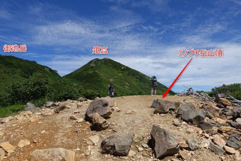 ミノブチ岳山頂~爼倉と御池岳