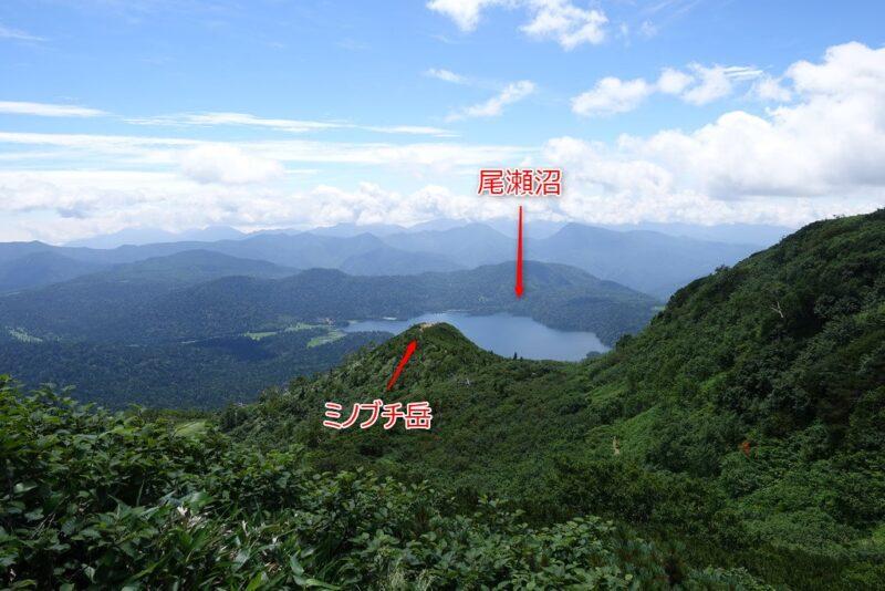 尾瀬沼とミノブチ岳