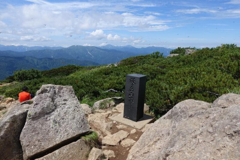 柴安嵓の山頂