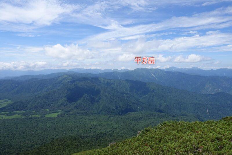 柴安嵓の北西側の景色~平ヶ岳