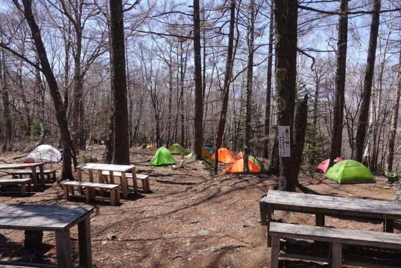 富士見平小屋のテント場