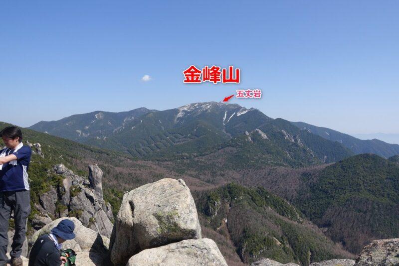 瑞牆山~山頂からの展望(東側)