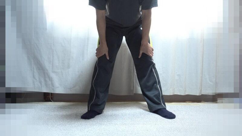 膝の屈伸(開脚)②