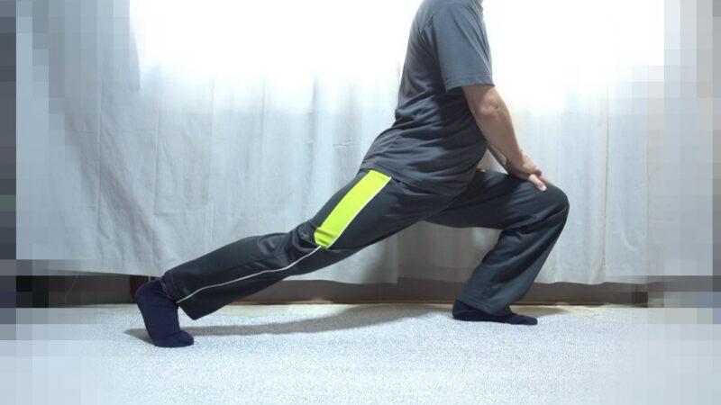 太もも表面のストレッチ【その2】(右足②)