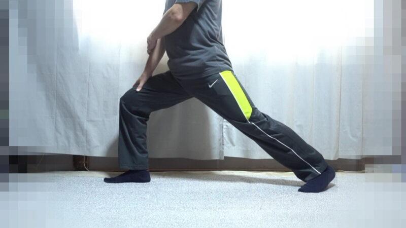 太もも表面のストレッチ【その2】(左足①)