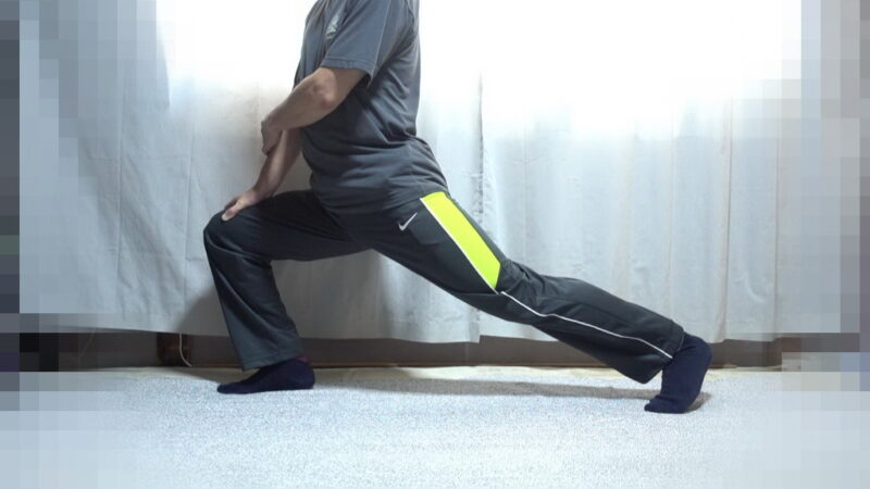 太もも表面のストレッチ【その2】(左足②)