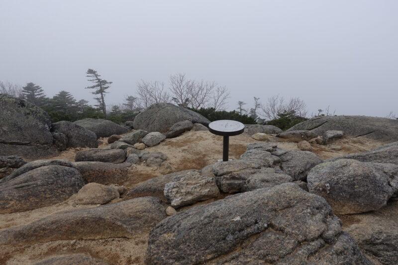 北奥千丈岳の山頂(南側)