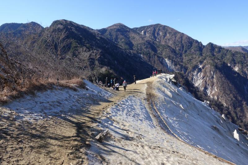 日向山の山頂付近(雁ヶ原)