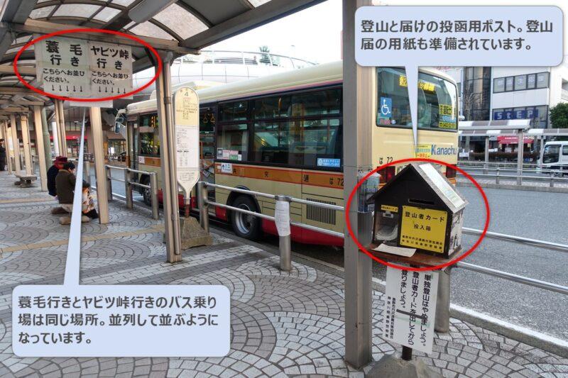 秦野駅・蓑毛行きバス停