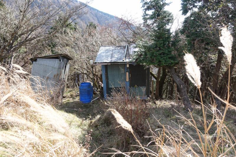 烏尾山荘のトイレ(使用不可)
