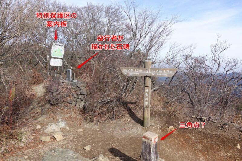 行者岳の山頂