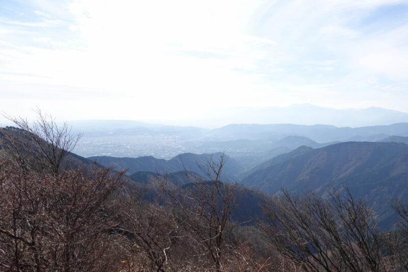 行者岳の山頂から
