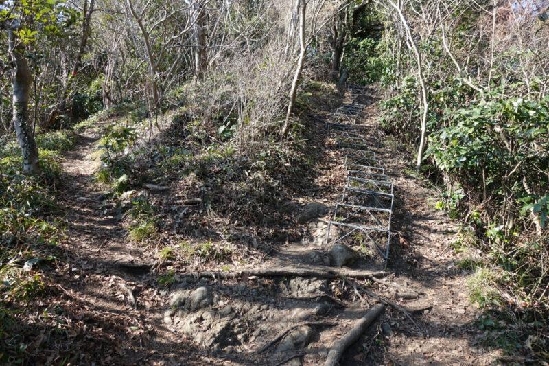 乳頭山の階段