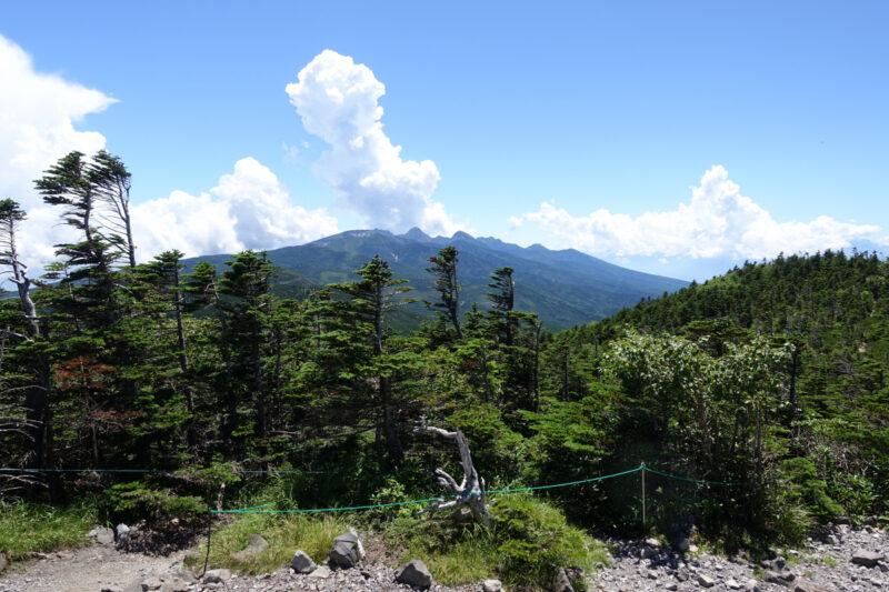 北横岳北峰の山頂から南八ヶ岳