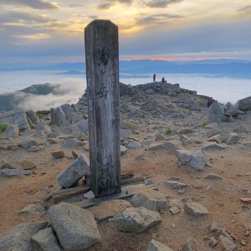 木曽駒ケ岳の山頂