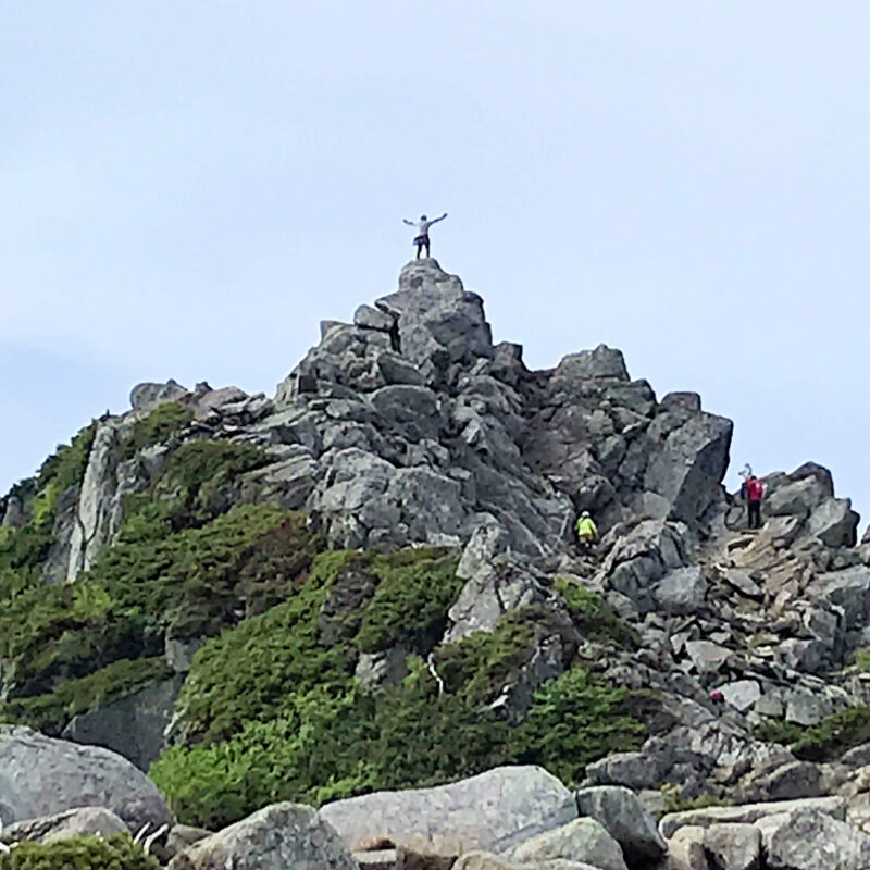 宝剣岳の山頂